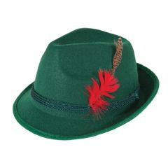 Bavarian Hat with Feather (AC9163)